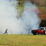 Brush Fire Near Nellysford Keeps Firemen Busy Thursday Afternoon : 4.9.09