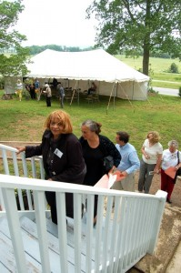 Countless folks either showed up for the home tour, the Hurricane Camille program, or both!