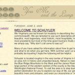 Earl Hamner Reflects On Schuyler As Summer Vacation Season Begins : 6.5.09
