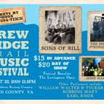 Gearing Up For Huge Blue Ridge Trail Music Festival In August! : 7.16.09