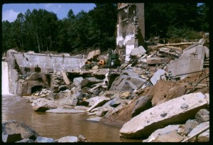 Complete roadways were washed away by the devastating 1969 hurricane that hit Nelson County, 40 years ago.