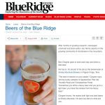 Local Microbreweries Get Nice Mention In Blue Ridge Country Magazine : 8.31.09