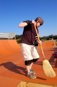 It's all about keeping the place clean too, as Jason Oliver demonstrates so well!