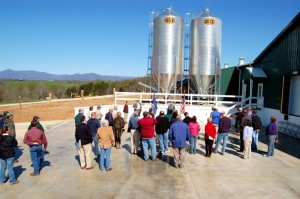 ©2008-2009 www.nelsoncountylife.com : A shot from the opening ceremonies of the chicken operation at Black Eagle Farm just a little over a year ago.