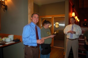 Chris Trotter (left) DBBC's General Manager, has lots to smile about! It's been a long but successful year!