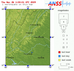 Earthquake Graphic Courtesy of USGS : Click to enlarge.