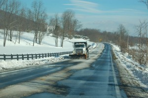 By Tommy Stafford : Though plenty of snow remains on main roads, great progress is being made, at least one lane of 151 was cleared by noon Sunday.
