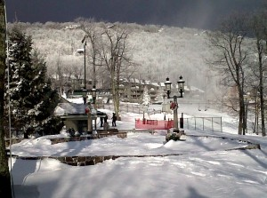 By Paul Purpura : The view at Wintergreen Resort the next morning after the blizzard.