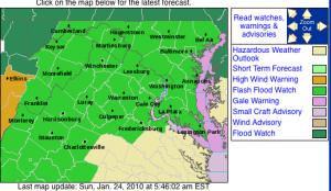 Via The NWS : A Flash Flood Watch Begins at 3PM Sunday afternoon through Monday morning for the potential of very heavy rain. Click image for very latest.