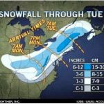 Monday's Snow Doesn't Look Overly Impressive : 2.15.10 : Updated : 7:45 AM