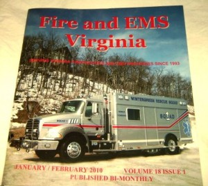 Image ©2010 Fire & EMS Virginia : Wintergreen Fire & Rescue made the cover of this trade magazine. Click to enlarge.