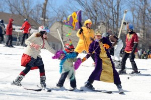 All types of events took place throughout the day including, a costumed parade, tubing races, and a synchronized ski contest.