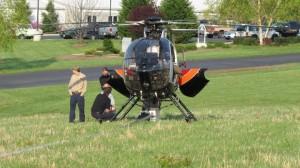 Chopper crews prepare from takeoff from CVEC.