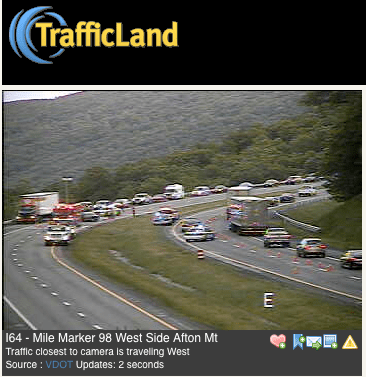 Accident : Major Traffic Delays On I-64 : CLEARED OPEN : 5 12 10 : 9