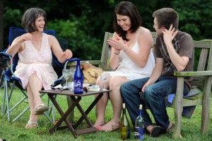 People enjoyed a relaxing day by the Rockfish River at Wintergreen Winery's annual Wine Into Summer event.
