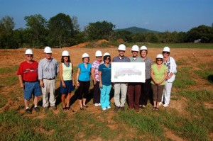Photo By Tommy Stafford : ©2010 www.nelsoncountylife.com : The developers, architect, and staff of Afton Family Medicine pose for an official shot at their ground breaking of the new clinic this past Tuesday afternoon (August 31, 2010) in Afton, Virginia. Click any photo to enlarge.