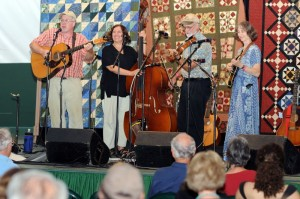 Kim & Jimbo Cary along with Pete & Ellen Vigor on stage at the Mountain Music Fest. All of the group have played at many dignitary events including performances at The Kennedy Center and the White House.