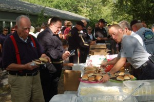 All of the volunteers enjoyed a fantastic grilled meal prepared by members of Wintergreen Fire & Rescue. The food was paid for by funds provided by The Nelson BOS.