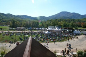 Another view from up above at The Festy. The Blue Ridge Mountains are easily seen off in the distance on the clear Saturday afternoon.