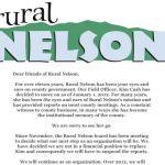 Rural Nelson Announces Major Change Starting In January 2012