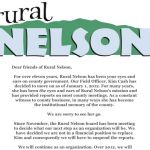 Rural Nelson Announces Major Change Starting In January 2012