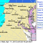Freeze Warning From 2AM Until 9AM Thursday Morning : EXPIRED