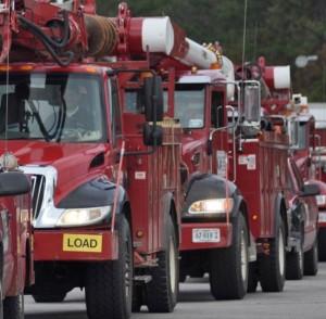 A massive response by CVEC is underway to help restore power to thr region after Wednesday's massive winter snowstorm.