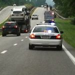 Wintergreen Fire Truck Slowly Moving Along Route 29 North -  Same Area Searched Earlier In Alexis Murphy Case