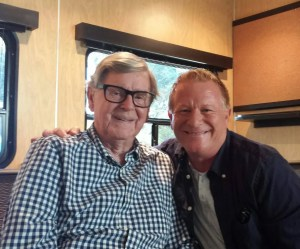 Photo Courtesy of Eric Scott: Earl Hamner, Jr (left) and Eric Scott. Scott played the TV character of Ben on the long running series, The Waltons.