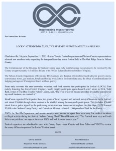 Above the verbatim press release BRLM and other media outlets received from Lockn' Wednesday evening - September 11, 2013 - Click to enlarge.