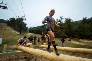 Log balance obstacle -- Nasty 001. Photo courtesy: GORUCK