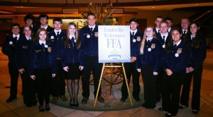 Photo Courtesy of Nelson FFA: The entire Nelson County Convention delegation at the recent National Future Farmers of American convention held in Louisville, KY. Some members of the delegation placed first in the nation.