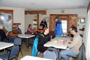 Diners enjoyed authentic maple syrup over their pancakes this past Saturday - March 8, 2013.