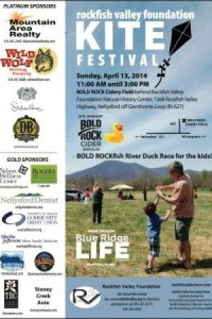 The annual Rockfish Valley Kite Festival is this weekend. Click on the flyer above to enlarge and get more info.
