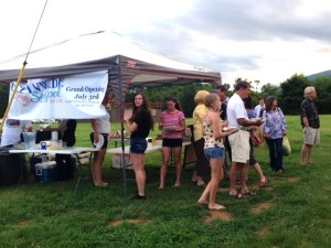 ©2014 Blue Ridge Life : Photos By Kim Chappell : People flocked to the Oceanwide Seafood tent this past weekend at the Rockfish Valley Community Center's annual membership drive. The outdoor festival helped promote membership to the center located in the Greenfield portion of Afton.