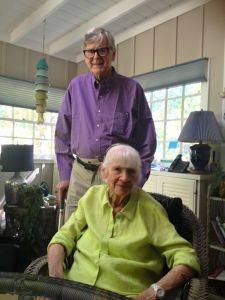 Nelson County Native Earl Hamner, Jr and his wife Jane at their home in Studio City, CA this past week. Hamner is the creator of The Waltons as well as many other populars TV series.