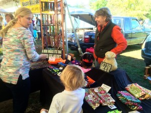 ©2014 Blue Ridge Life Magazine : Photos By Tommy Stafford : Becky Hubbard, one of the vendors at the Nelson Farmers Market) enjoys the last day of the market this past Saturday - October 25, 2014 in Nellysford, Virginia.