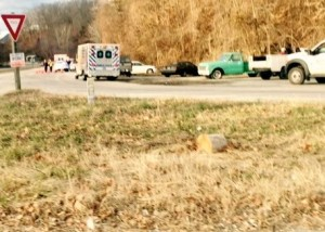 Traffic was able to get by on the southbound side at the accident scene Friday morning - January 20, 2015.