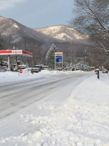 Photo By Kim Chappell : Roads were still covered by snow in the Beech Grove area of Nelson County on Route 664 Tuesday morning - February 17, 2015. By the afternoon many main roads were totally clear, but not enough for some areas school to stay closed on Wednesday.