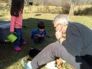 Dr. Lotz about one year ago in December 2014 on our farm in Roseland. He was checking on one of our beagles. One of the smartest vets I've ever known, he was able to figure out that Nick our beagle had eaten a poisonous plant. A day or so later our pup was up and running around like nothing had happened!
