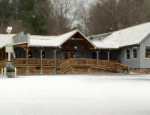 Photo Courtesy Of Janice Hopkins : Ligt snow showers began falling around 8:30 AM Monday - January 4, 2016 across the Central Virginia Blue Ridge. The Montebello Country Store in SW Nelson County has a light dusting of snow around 9:15 AM.