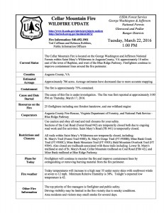 Above, a 1PM Tuesday release from the US Forest Service regarding the fire and measures being taken to get it under control. Click on image to enlarge.