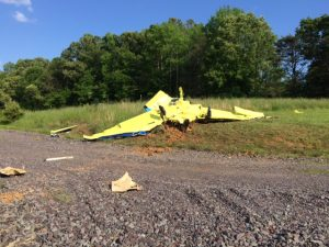 Photos via VSP: Two people were killed in this plane crash in Orange County, Virginia on Tuesday - May 24, 2016.