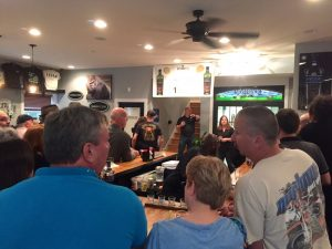 Countless dozens of people gather Saturday evening to get a taste of the soon to be release Lucky 13 Rye Whiskey at Silverback Distillery in Afton, Virginia - Saturday - May 21, 2016.