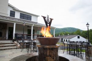 Photo by Tom Daly : A recently opened 2000 square foot patio is now part of the experience at Virginia Distillery Company.
