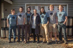 Photo by BLue Ridge Bucha - The crew at Blue Ridge Bucha showing off the new logo on their shirts.