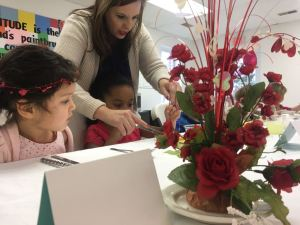 Photos By Yvette Stafford : ©2017 Blue Ridge Life Magazine : Youngsters at Afton Christian School in Nelson County get some pointers during their etiquette luncheon on Valentine's Day - Tuesday February 14, 2017.
