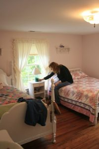 Photo By Hayley Osborne : Mary Beth McDonough who played the character of Erin on The Waltons checks out some of the memorabilia at Earl Hamner's childhood home in Schuyler, Virginia in May of 2011 while back in Nelson County for a book signing.