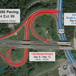 Route 250 Lane Closures & I-64 Exit 99 Ramp Closures For Paving On Afton Mountain : May 4 thru 12th