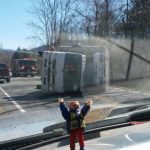 Nelson : Beech Grove : Refrigeration Truck Overturns Blocking Route 664
